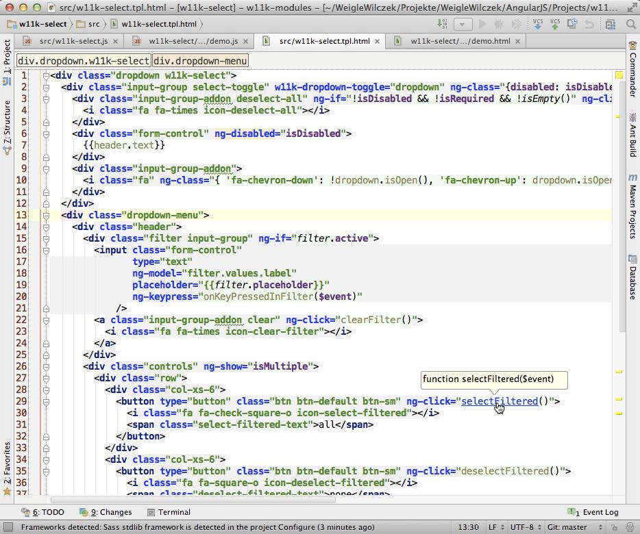 IntelliJ with AngularJS Plugin
