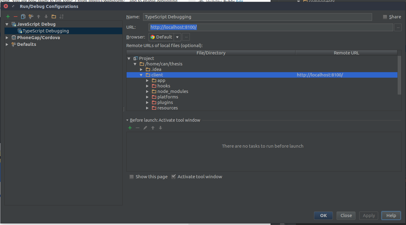 theCodeCampus → Setup Ionic 2 + TypeScript Debugging with IntelliJ